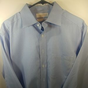 Roundtree & Yorke Shirts - Roundtree & Yorke Gold Label Fitted 16 / 34 Blue